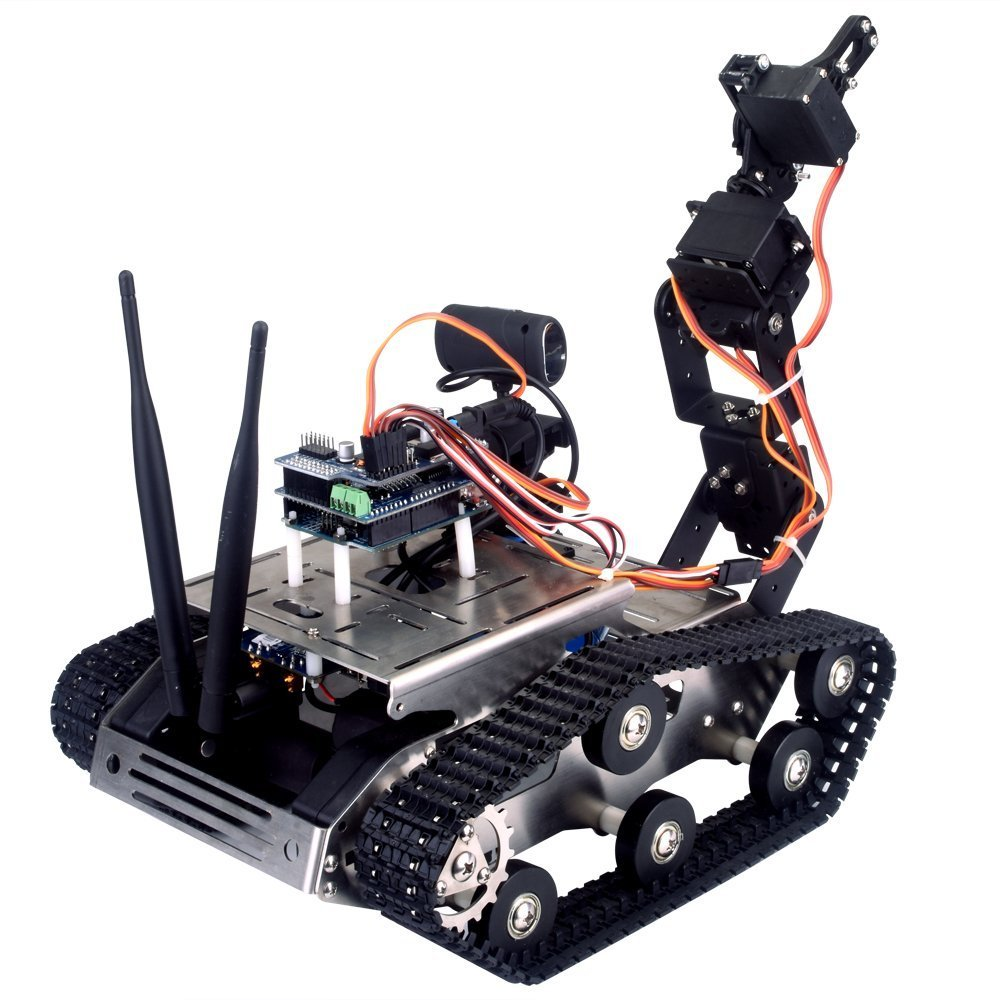 Arduino smart wifi video robot car w arm pc ios android app rmigo arduino smart wifi video robot car malvernweather Images