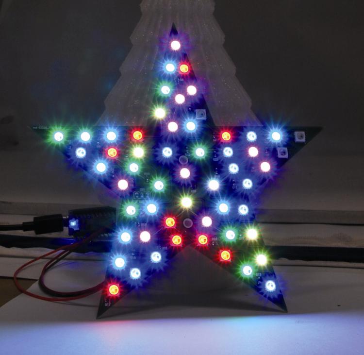 A Colorful Christmas Star with Neopixel LEDs - Rmigo