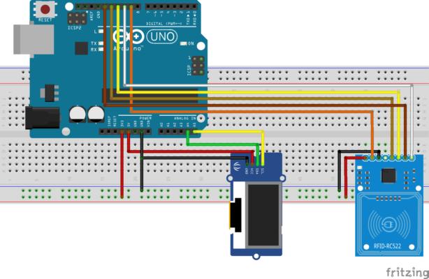 Use RC522 RFID with Arduino and OLED - RFID lock - Rmigo