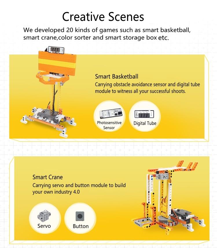 LOBOT DaDa:bit micro:bit Programming 20 in 1 Transformative Building Blocks